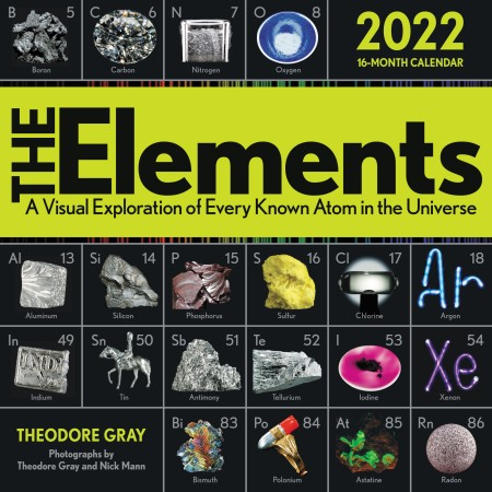 Wall Calendar 2022.The Elements 2022 Wall Calendar By Theodore Gray Black Dog Leventhal